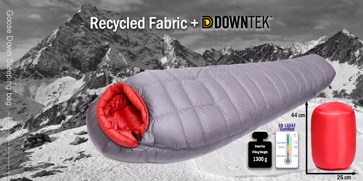 Recycled Fabric and DownTek Goose Down