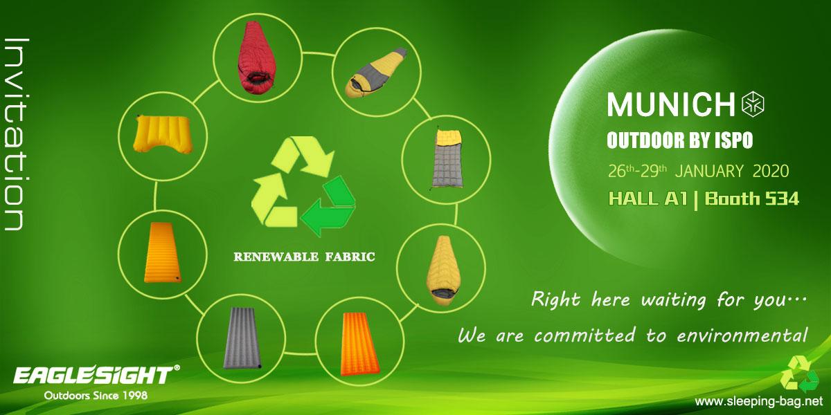 renewable fabric sleeping bag