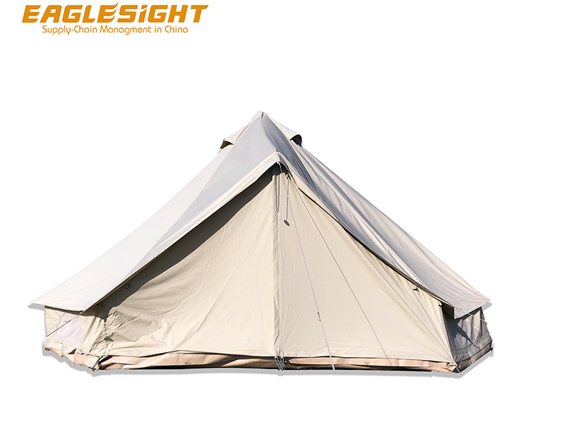 Glamping Canvas Bell Tent Glamping Tent Waterproof Luxury Hotel Bell Canvas Tent Luxury Glamping for Family Party Hotel