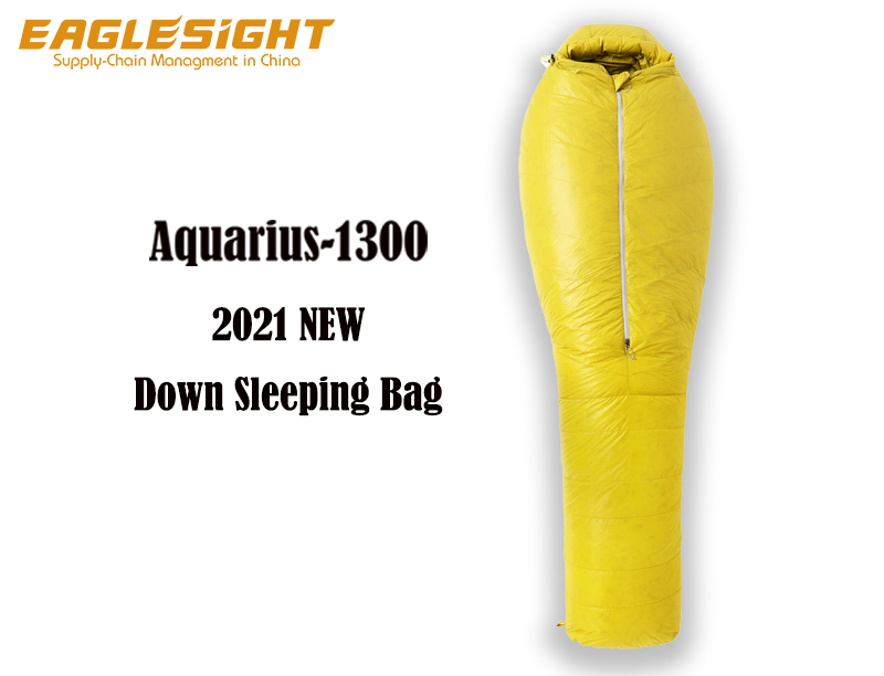 Aquarius 2021 New Down Sleeping Bag Water Repellent Goose Down Sleeping Bag Filling 1300g Ripstop Nylon Winter Sleeping Bag Outdoor Camping in Cold Weather