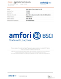amfori BSCI Certificate Received