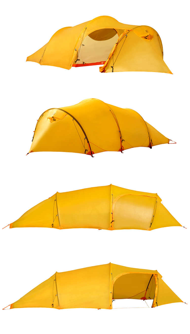 10D Nylon Double sided Silicon Coating Tunnel Tent
