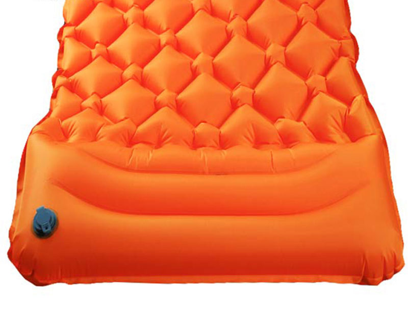 Camping Inflatable Sleeping Mat With Pillow