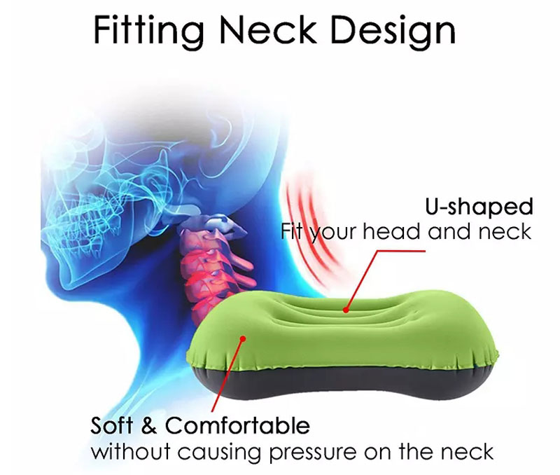 Ultralight Inflatable Travel Pillow For Camping