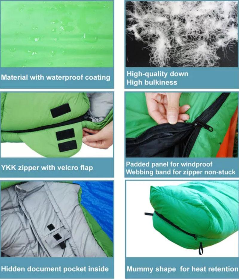 Outdoor Ultralight 0 Degree Waterproof Down Sleeping Bag