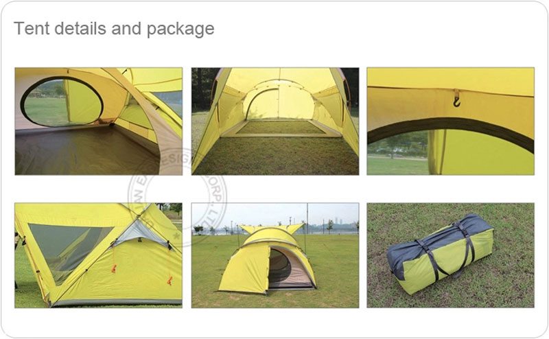 Unique 68D Breathable Family Camping Tent
