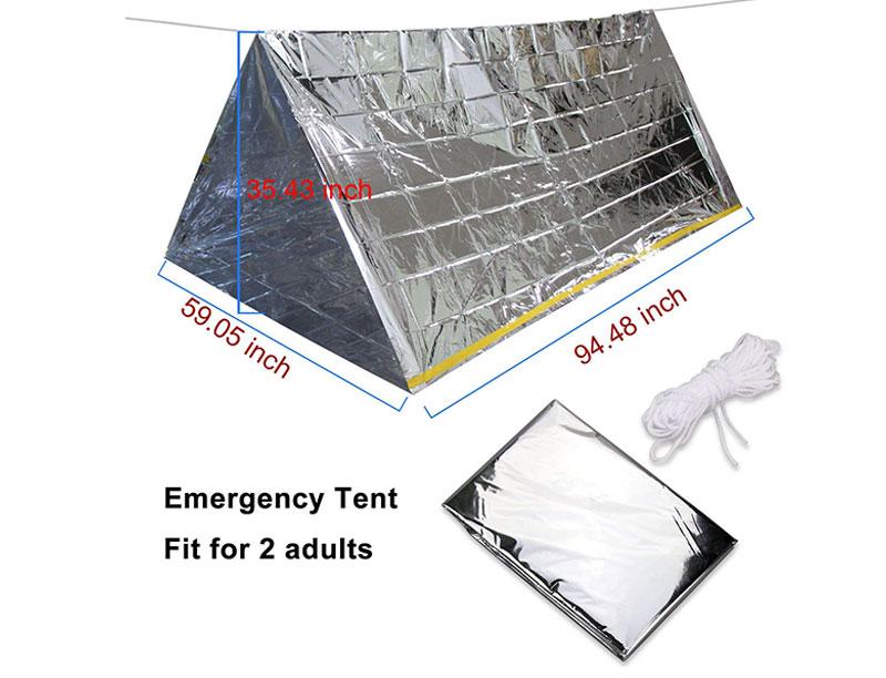 Camping survival Aluminum Body Warmer Emergency Sleeping Bag