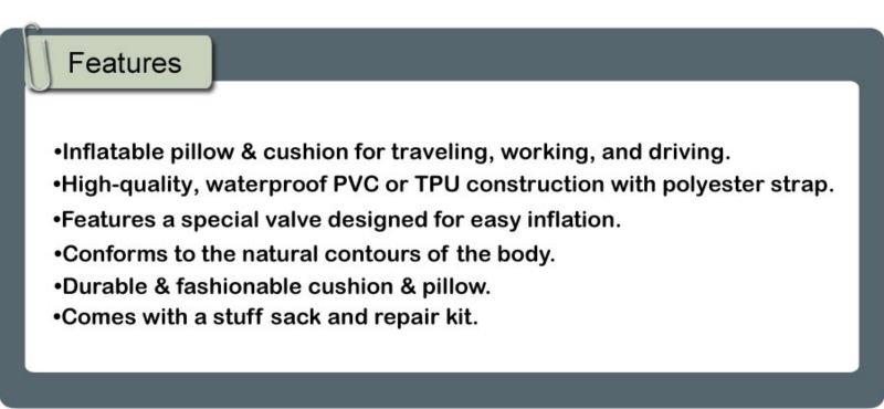 Waterproof PU Foam Camping Inflatable Air Pillow