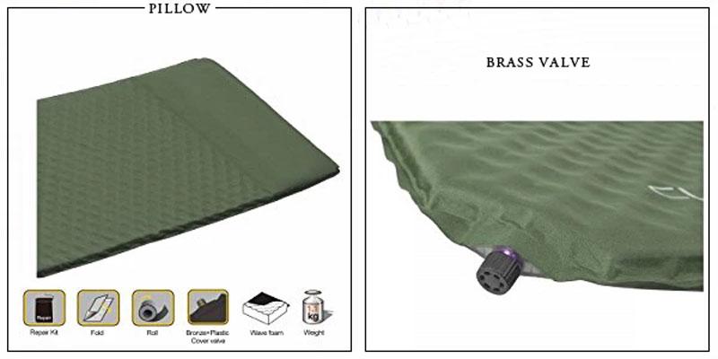 Side Sleeper Self-Inflatable Sleeping Pad With Pillow
