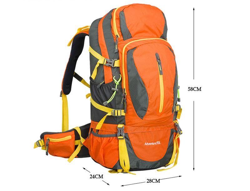 Outdoor Hiking Travel 50L Internal Frame Backpack