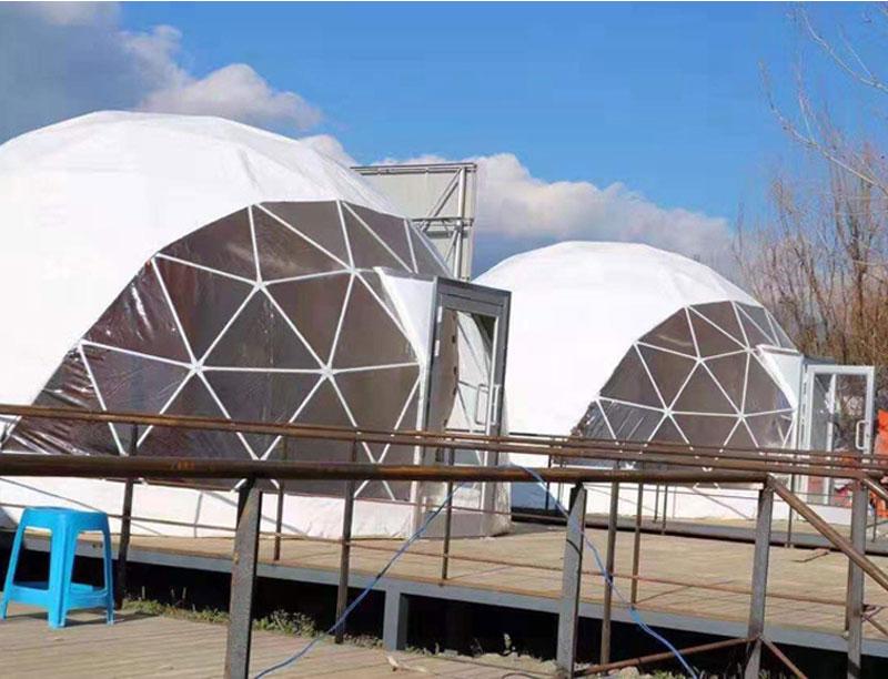 4M - 40M diameter Waterproof Party Half Sphere Luxury Dome Tent