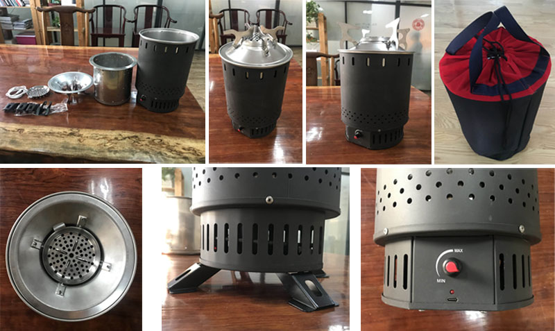 Hiking Windproof Mini Portable Cooker Camping Wood Stove