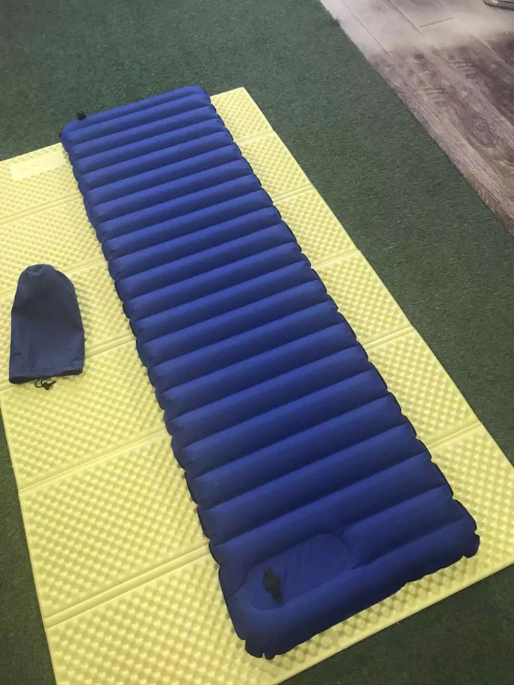 Ultralight Air Tube Inflatable Sleeping Pad With Built In Pump