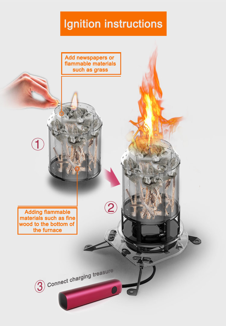 Outdoor Wood Biomass Camping Stove