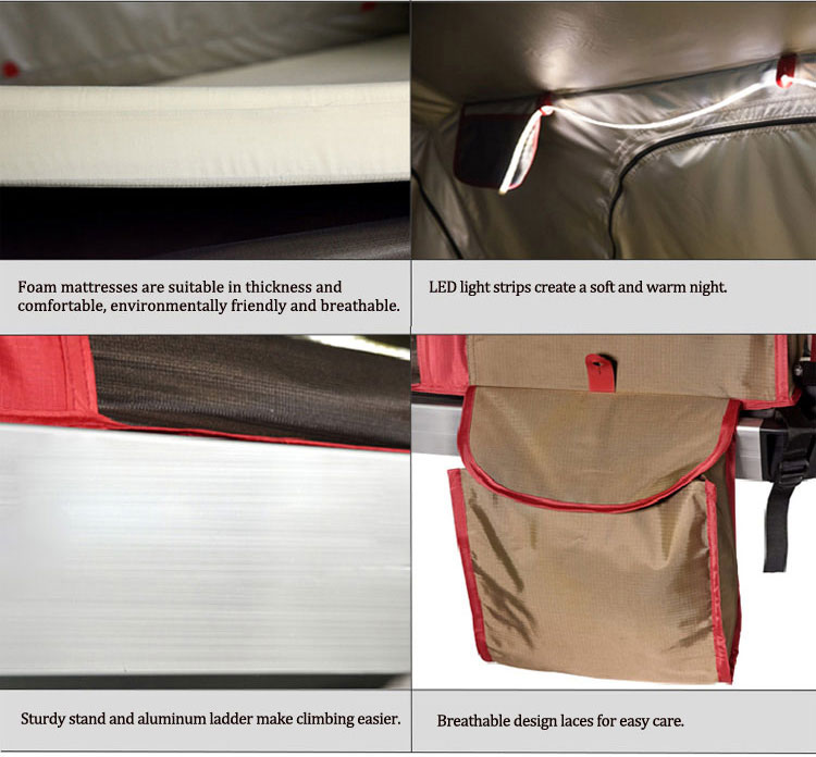 UV Protection Hydraulic Automatic Soft Shell Roof Top Tent