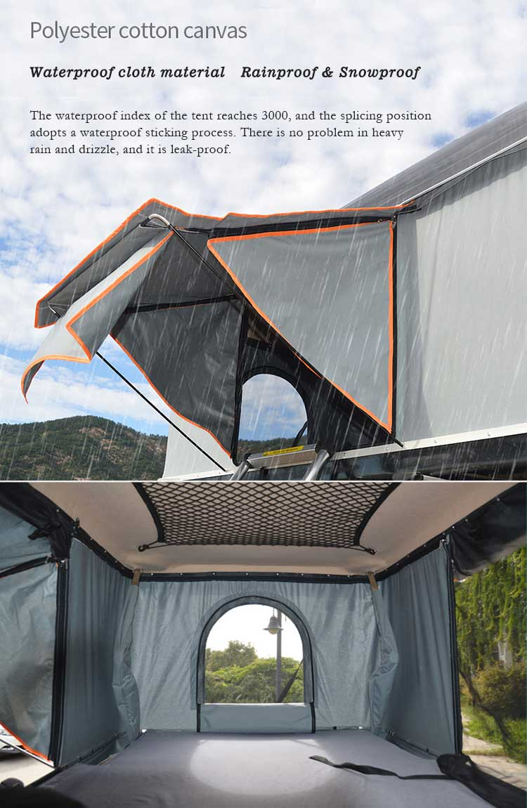Flagship suv travel pour camper car hard Shell solar power camping roof top Tent