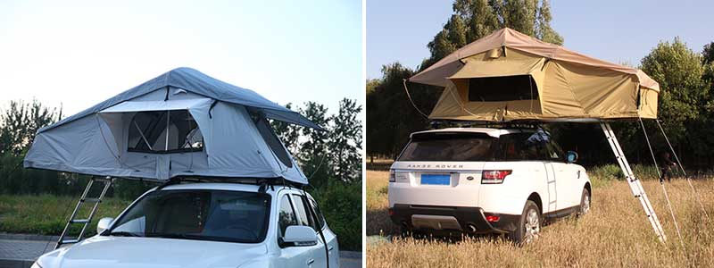 4WD Double Layer Aluminum Folding SUV Roof Tent for sale