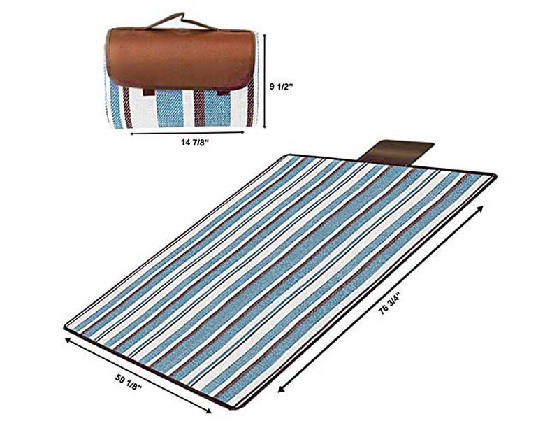 Light Weight Aluminum Foil Foldable Waterproof Picnic Blanket Camping Backpacking Blanket