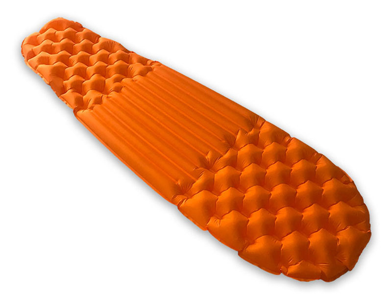Comfortable Light Weight Insulated Air Inflating Air Mat Camping Sleeping Pad