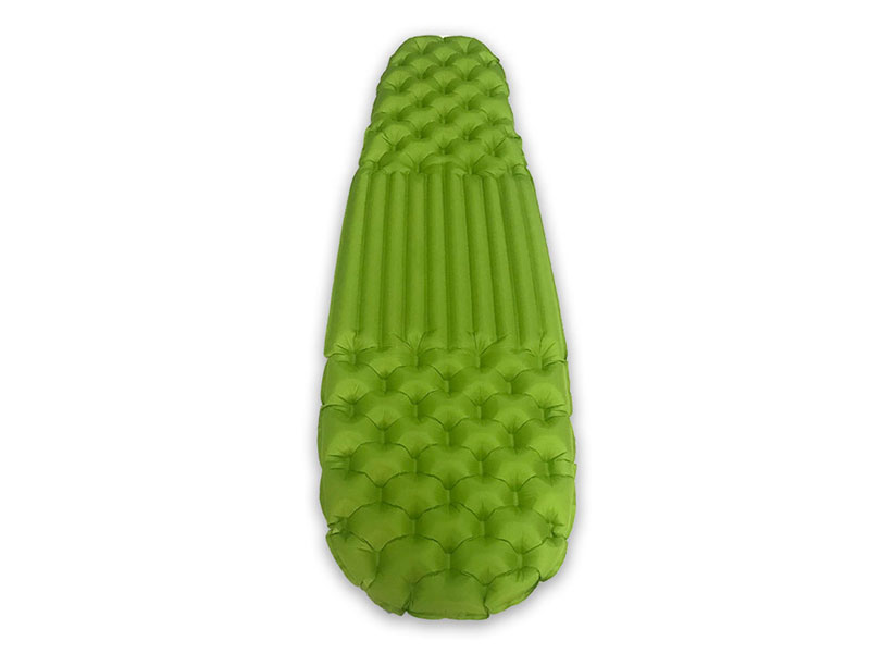 Comfortable Light Weight Insulated Air Inflating Air Mat Camping Sleeping Pad