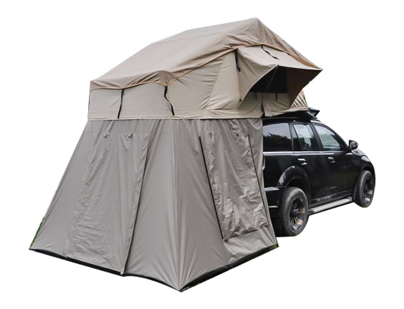 Long Size Roof Top Tent 4 Person Jeep Roof Tent Soft Shell with Changing Room