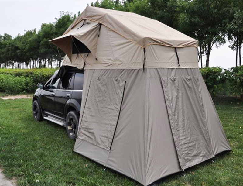 Extra Long Size Roof Top Tent 4 Person SUV Soft Shell Roof Top Tent with Changing Room