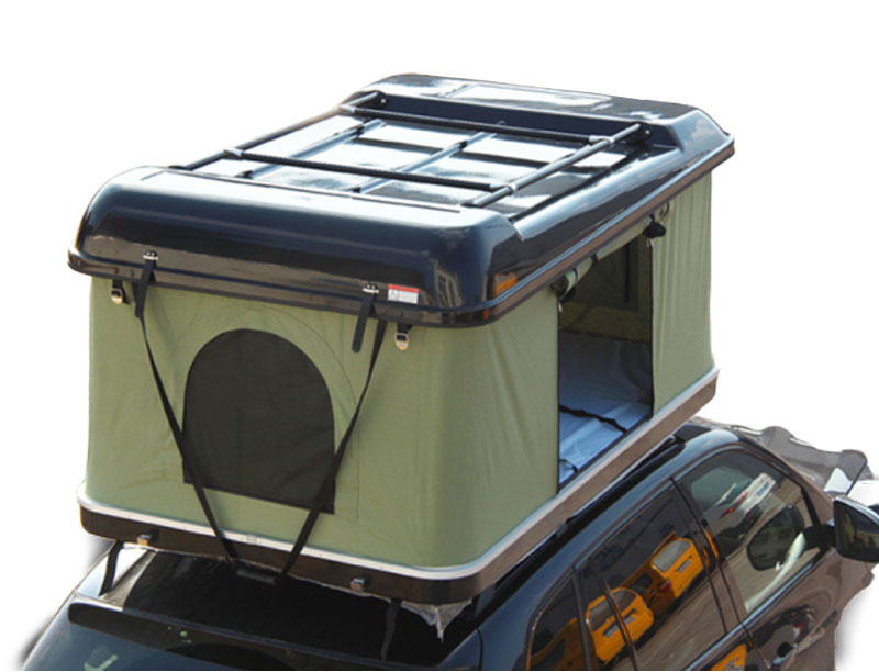 4WD Car Pull Out Hard Shell Roof Top Tent With Luggage Rack Pop Up Roof Top Tent
