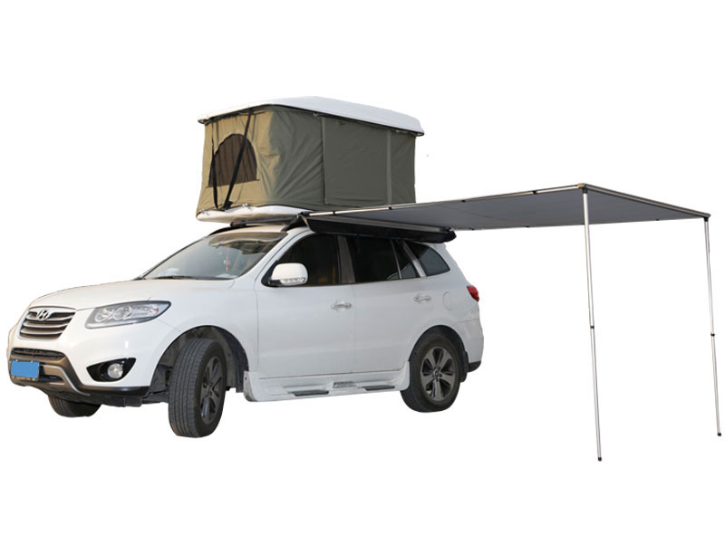4WD SUV Roof Top Tent with Side Awning for 4 Person Pop Up Hard Shell Roof Top Tent