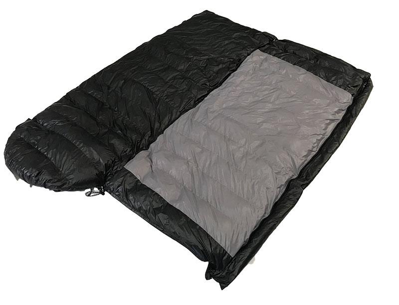 Outdoor Hiking 320T Nylon Sleeping Bag Lightweight Duck Down Sleeping Bag
