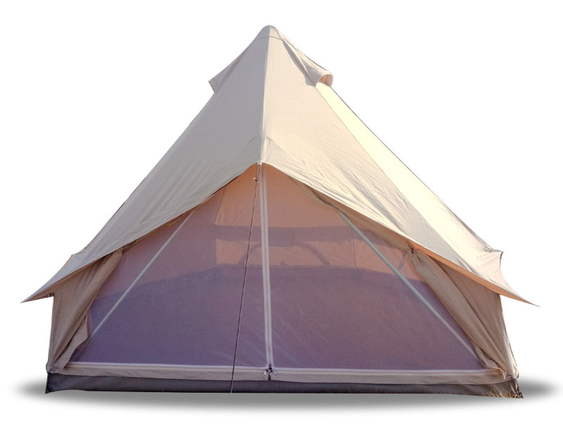 Family Bell Tent Waterproof UV Proof Canvas Tent Party Tent