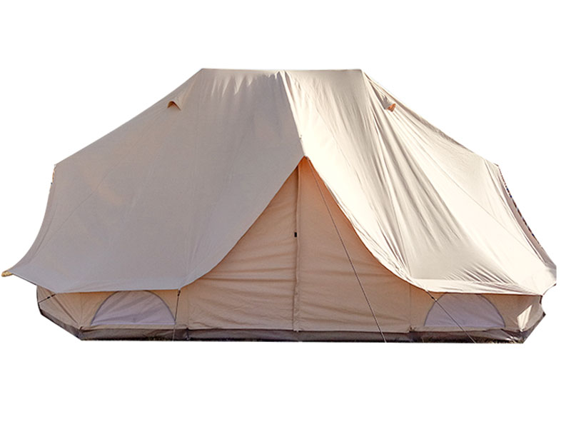 Double Top 6 m Waterproof Luxury Glamping Cotton Canvas Tent