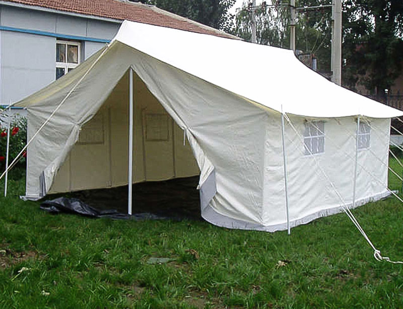 Winterized Double Fly Canvas Waterproof Family Relief Tent