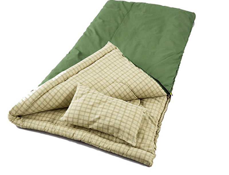Cotton Lined Rectangular Envelope Sleeping Bag Lightweight Sleeping Bag