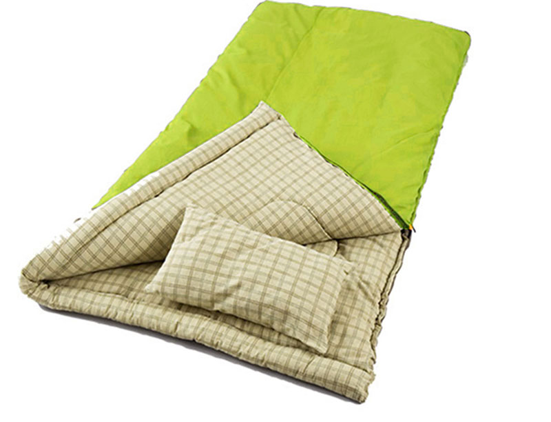 Cotton Lined Rectangular Envelope Sleeping Bag Lightweight Sleeping Bag