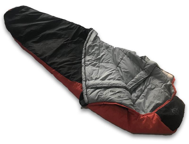 0℃ Backpacking Mummy Sleeping Bag Lightweight Cold Weather Sleeping Bag