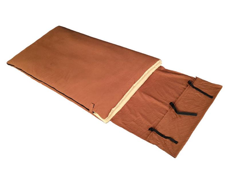 3 Season 100% Cotton Flannel Sleeping Bag Water Repellent Sleeping Bag