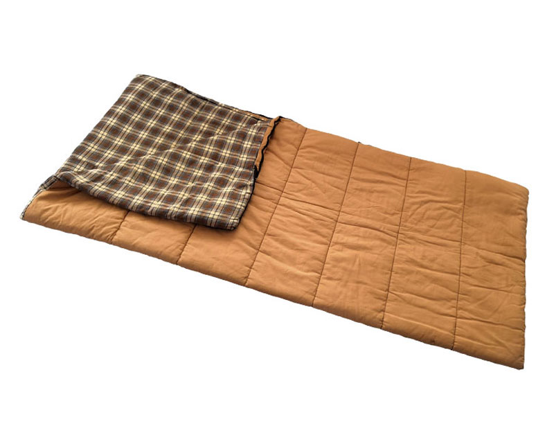 Outdoor Training Envelope Plaid Canvas Sleeping Bag