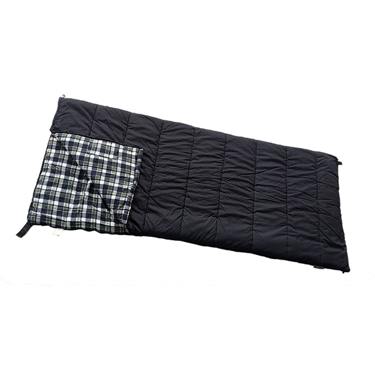 Inner Plaid Pattern Hollow Cotton Fiber Canvas Sleeping Bag