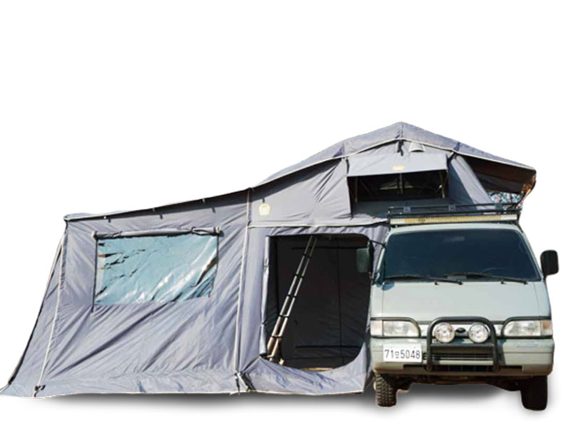 Soft Shell Roof Top Tent with Annex Changing Room Car Tent Aluminum Frame Roof Top Tent