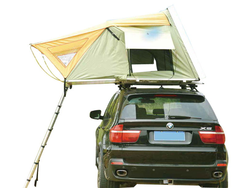 Light Weight Side Open Hard Shell Roof Top Tent with 2 Skylights