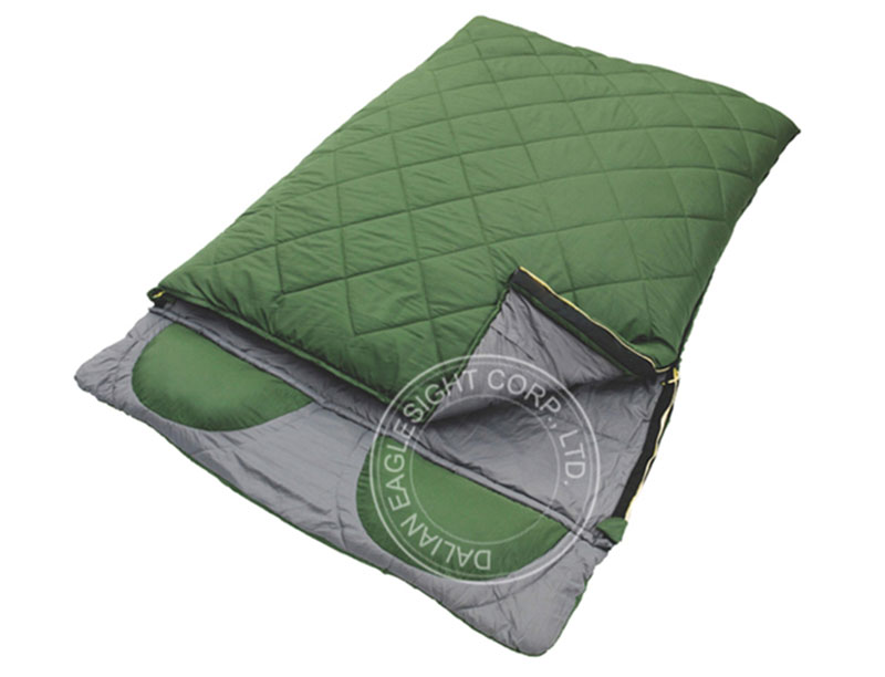 2 Person Double Sleeping Bag With Two Pillow