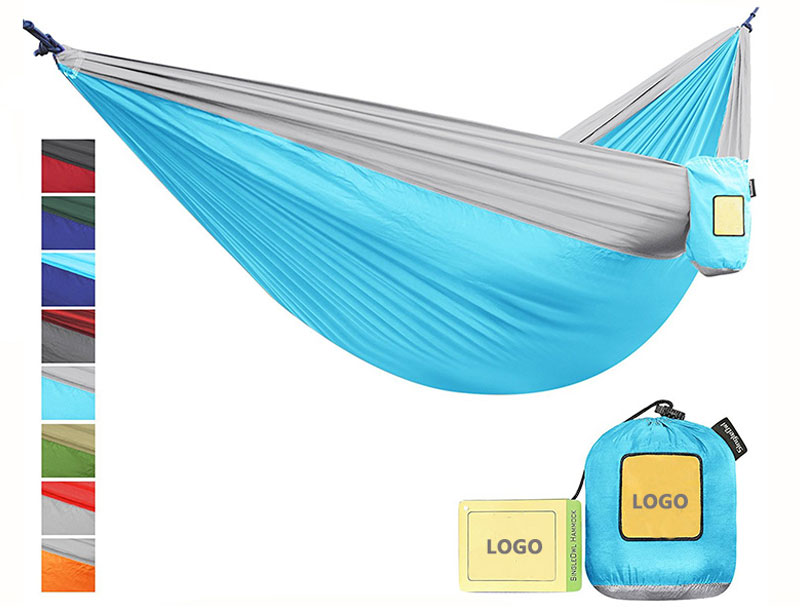 Parachute Nylon Portable Double Hammock Quick Dry Breathable Light Weight Camping Hammock
