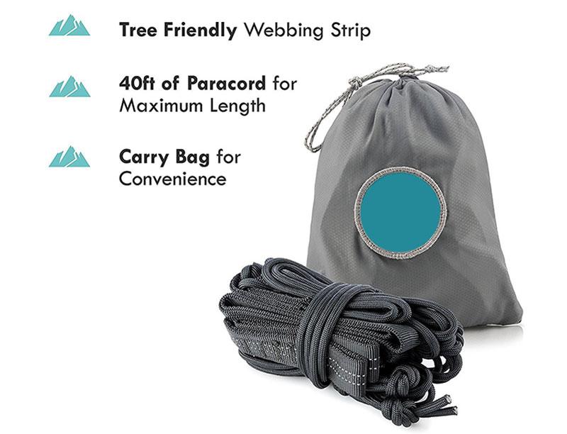 Portable Outdoor Camping Ultralight Parachute Nylon Hammock Quick Dry 2 Person Hammock