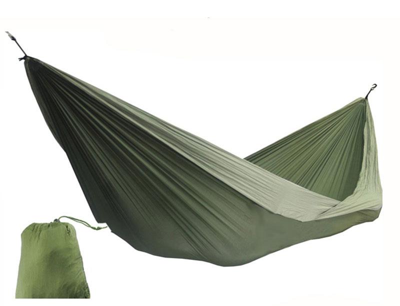 Parachute Nylon Ripstop Hiking 2 Person Camping Hammock Light Weight Heavy Duty Hammock
