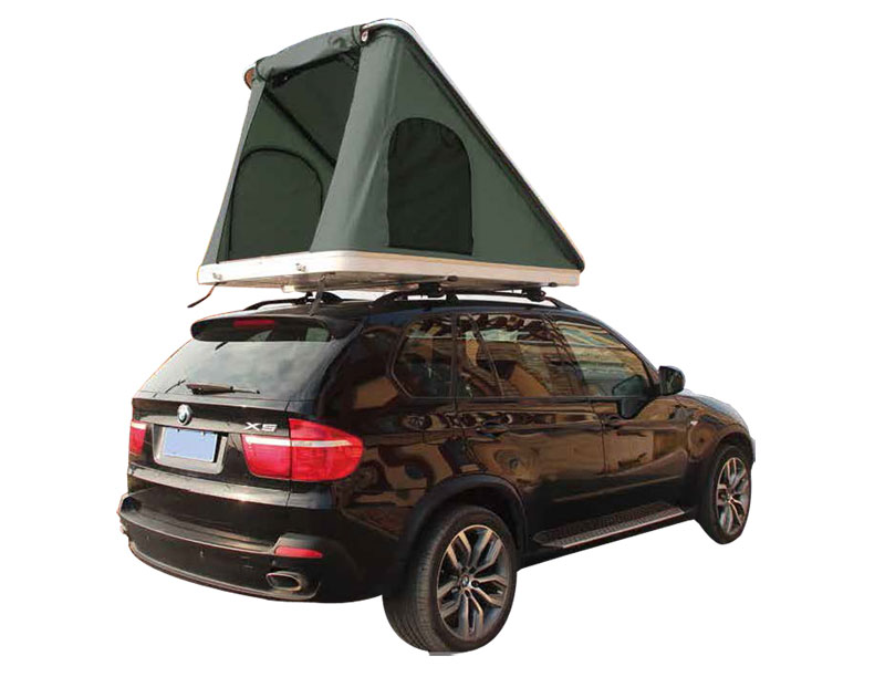 Outdoor Camping Auto Canvas Folding Car Rooftop Tent