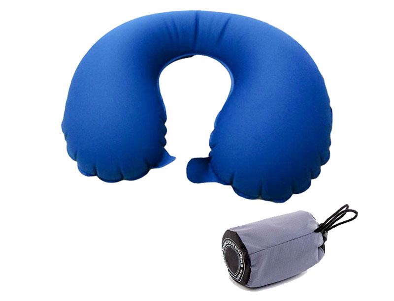 Pocket Size U Shape Airplane Travel Inflatable Neck Pillow