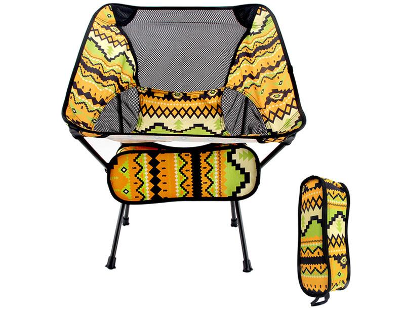 Ultralight 7075 Aluminum 600D Oxford Canopy Outdoor Folding Chair Heavy Duty Camping Chair