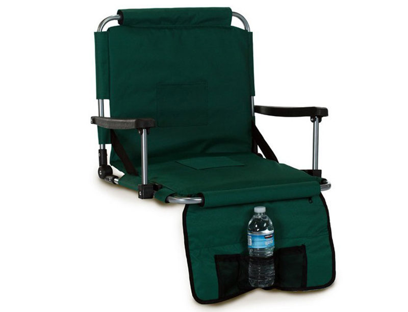 Portable Stadium Cushion Seat With Arms and Storage bag Camping Chair with Aluminum Frame