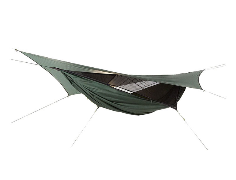 Rain Fly Camping Canopy Hammock With Mosquito Net Jungle Rainforest Camping Hammock with Tarp