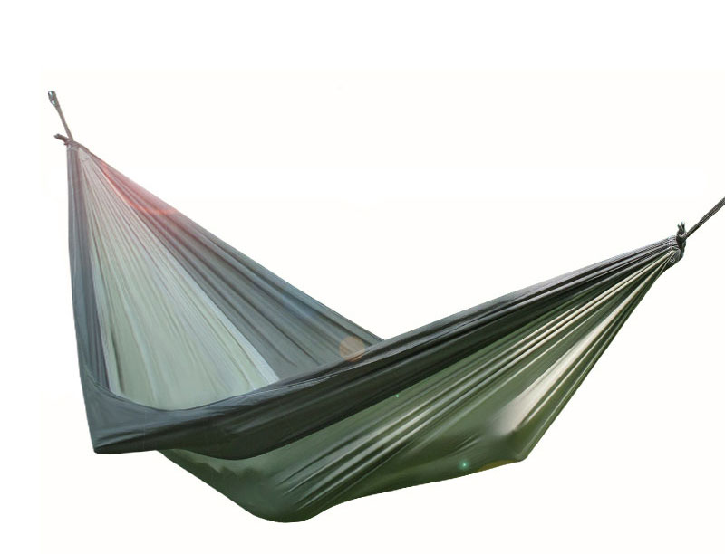 2 Person Leisure Double Camping Hammock Light Weight Heavy Duty Parachute Nylon Hammock